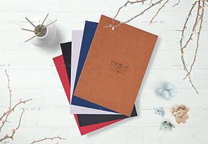 竖(横)12寸简易册(白卡对裱)20P(棕/蓝/白/红/黑)